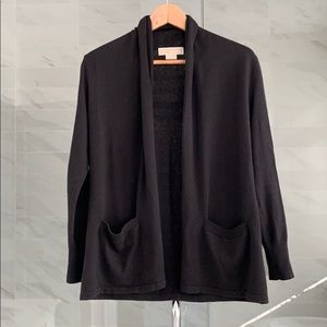 Michael Kors black open cardigan